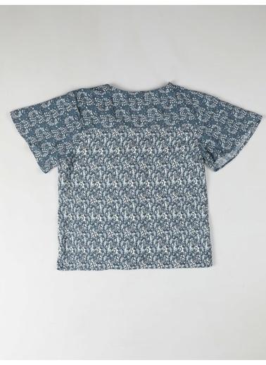 Colin's Regular Fit V Yaka Kadın İndigo Kısa Kol Gömlek İndigo